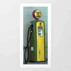 Gas Pump Art Print
