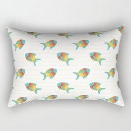 Turquoise Fish Rectangular Pillow