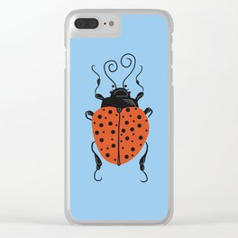 Little Ladybug Blue Clear iPhone Case