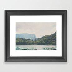 into the wilderness she went ... Framed Art Print