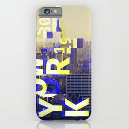 GLITCH CITY #00 NEW YORK iPhone Case