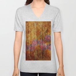 A REFINED DESIRE FOR CHERRY WOOD Unisex V-Neck