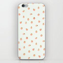 Sweet Peach Polka Dot, Mint iPhone Skin
