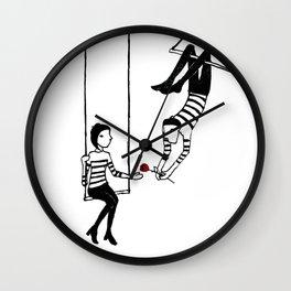 Claude et Anouk - Rose Wall Clock