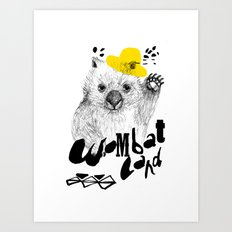 Wombat Love Art Print