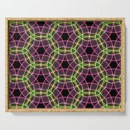 Abstract Circles Pattern Serving Tray