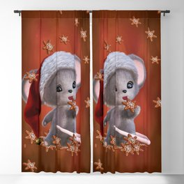 Little Mouse with Christmas Cookies Blackout Curtain