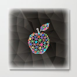 Abstract triangle apple with background Metal Print