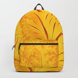 Fall Leaves Abstract Autumn Yellow Orange Gold Leaf Pattern Backpack