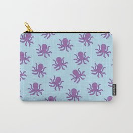 Friendly Octopus // Blue Pattern Carry-All Pouch