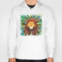 simba Hoodies featuring Spirit of The Lion King by EmeraldSora