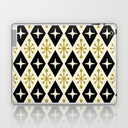 Mid Century Modern Atomic Triangle Pattern 123 Laptop & iPad Skin