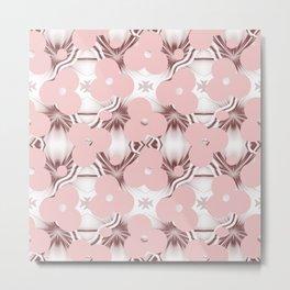 Floral mid-century pattern Metal Print