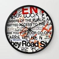 downton abbey Wall Clocks featuring Abbey by JoFar