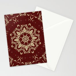 Dead Papaya Floral Art Stationery Cards