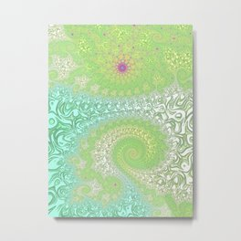 Springtime Garden Fractal Art Metal Print