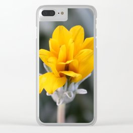 Yellow Flower Bud Clear iPhone Case
