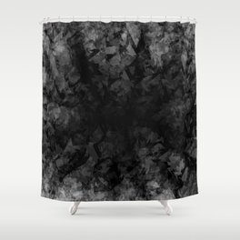 Abstract Radial Gradation Shower Curtain