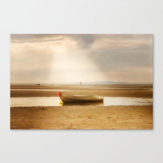 White Rock Rowboat II Canvas Print
