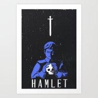 hamlet Art Prints featuring Hamlet by Gabbyness