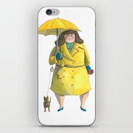 Glória e Mimi chic à chuva - Gloria and Mimi chic under the rain iPhone Skin