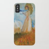 monet iPhone & iPod Cases featuring Monet Lady by KitaKita