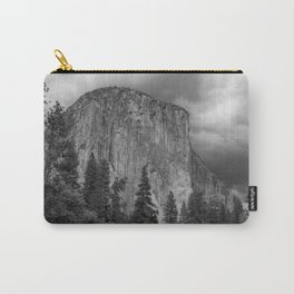 Yosemite National Park, El Capitan, Black and White Photography, Outdoors, Landscape, National Parks Carry-All Pouch