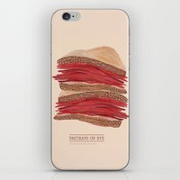 catcher in the rye iPhone & iPod Skins featuring Pastrami on Rye by Louise Norman