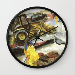 Blue whale on Second Beach, dissection with back-hoe, No. 1 - Middletown Wall Clock