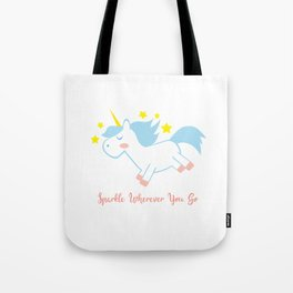 Sparkling Unicorn Tote Bag