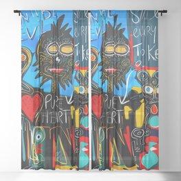 Don't be Evil Street Art Graffiti Sheer Curtain