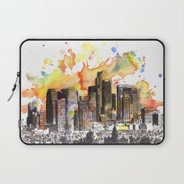 Los Angeles Cityscape Skyline Painting Laptop Sleeve