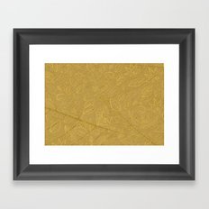Tobacco Pattern II Framed Art Print