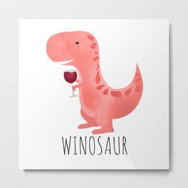 Winosaur Metal Print
