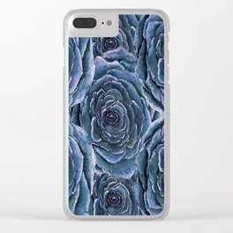 Blue Roses Clear iPhone Case