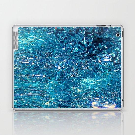 Broken and blue Laptop & iPad Skin