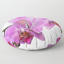 orchid flower minimalist minimal Floor Pillow