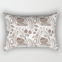 California Quail (Cocoa) Rectangular Pillow