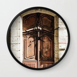 Doorway | Hotel de La Grange Nimes France Vintage Rustic Old World Desaturated Architecture Wall Clock