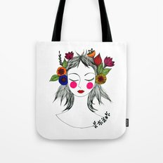 Blooming in peace Tote Bag