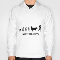 mythology Hoodies featuring Minotaur mythology by Komrod