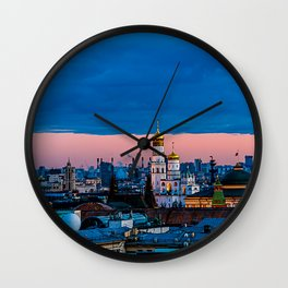 Moscow Sunset With An UFO Wall Clock
