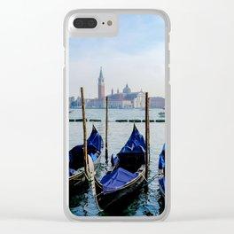 Row of Gondolas Venice Italy Clear iPhone Case