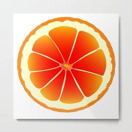 Blood Orange Metal Print