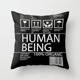Human Food Throw Pillow