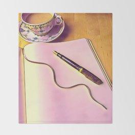 Writing Throw Blanket