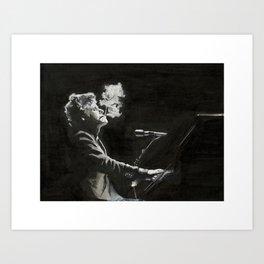 Waits Tom smoking at piano Art Print