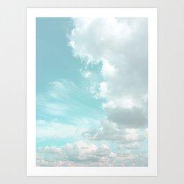 Head in the clouds #buyart #decor #freshair Art Print