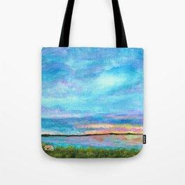 Good Morning, Beach House Sunrise Tote Bag