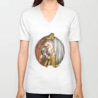 sherlock holmes V-neck T-shirts featuring Sherlock Holmes! by Berni Store
